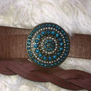 Accessories - Medallion braided belt